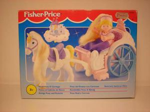 Pony del reame con carrozza fisher-price mattel royal pony