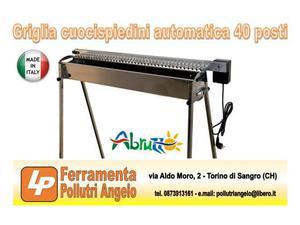 Griglia cuocispiedini (arrosticini) automatica 40 posti