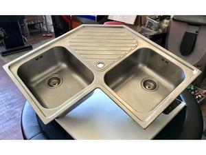 LAVELLO ANGOLO 2 vasche FRANKE acciaio inox