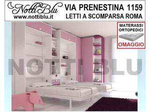 Letti a Scomparsa _ Letto Gemellare SE344 Materasso Omaggio