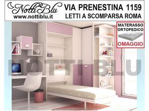 Letti a Scomparsa _ Letto Singolo SE345 Materasso Omaggio