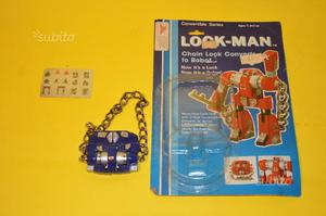 Robot look man in box anni 80
