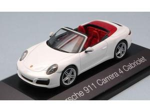 Herpa HP PORSCHE 911 CARRERA 4 CABRIOLET WHITE 1:43