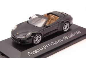 Herpa HP PORSCHE 911 CARRERA 4S CABRIOLET BLACK 1:43