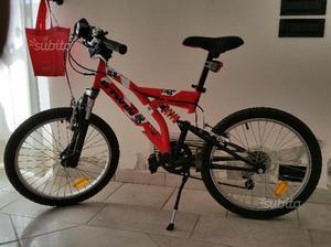 """Bicicletta MTB 20"""" Biamortizzata con Marce"""