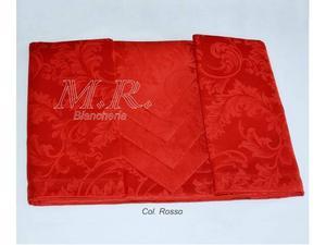 Tovaglia da  natale rossa fiandra 100% cotone