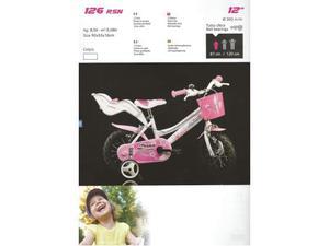 Bici bimba 12 Fantasy bicicletta da bambina 3/4 anni