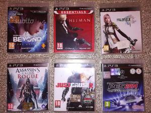 Blocco giochi ps3 lotto sei giochi Playstation 3