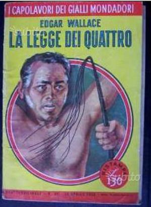 "Edgar Wallace ""La legge dei quattro"" ()"
