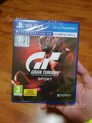 Gran Turismo GT sport PS4 nuovo sigillato
