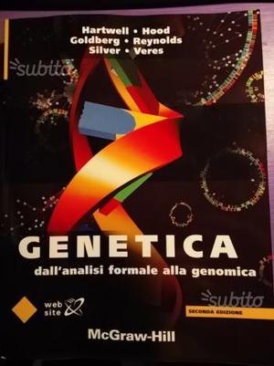 """Libro usato """"Genetica"""" McGraw-Hill"""