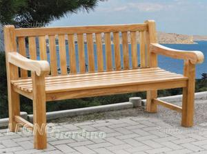 Panca 2 posti in legno TEAK nuova giardino casa
