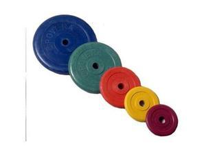 Rovera pesistica sport e fitness disco ghisa gommato kg. 10