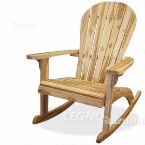 Sedia a dondolo in legno TEAK casa terrazzo