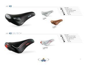 Sella k2 gel tech per bici mtb o strada o ibrida