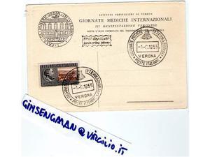 Francobollo+ Cartolina fdc Giornate Mediche Int.li Verona