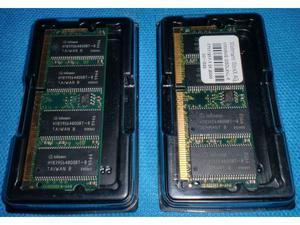 2 modulo memoria RAM 64 MB cad.uno