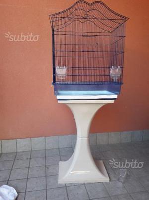 Gabbia per uccelli con supporto