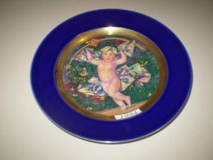 Piatto Natale  su Porcellana di Limoges LA.PA.SCA