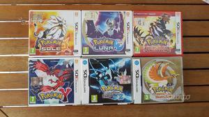 6 giochi dei pokemon luna e sole per nintendo 3ds