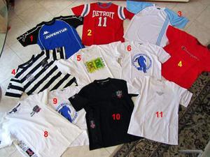 Magliette a maniche corte Paul & Shark, Bikkembergs, Adidas