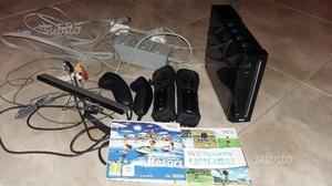 Nintendo WII Nera pacchetto sport resort+2 joystik