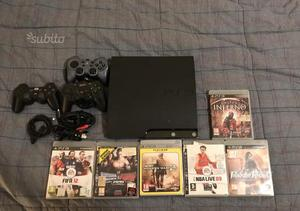 Ps3 Slim 120 gb + 6 giochi + 3 controller