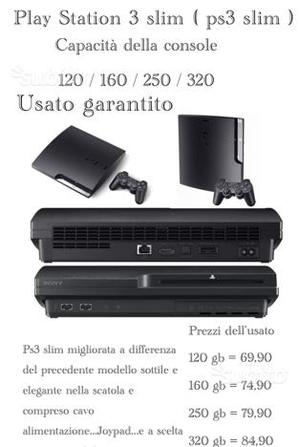 Ps3 slim & super slim usato garantito