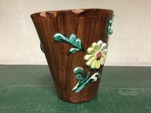 Canestro-Cestino in ceramica Vintage Anni 50'