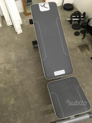 Panca per esercizi + kit manubri/bilanciere