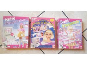 Barbie mattel lotto 3 giochi pc cd rom completi