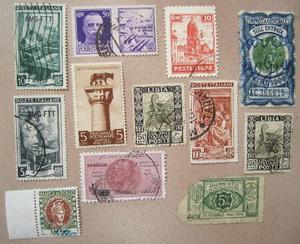 LOTTO misto di francobolli
