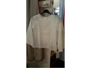 Camicia bambina cotone bianca armani