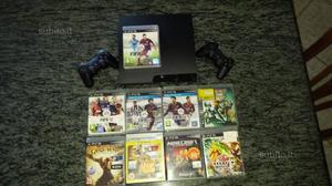 Playstation3 con 8 giochi + 2 joestick