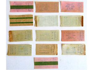13 Biglietti Navigazione A.C.N.I.L. Venezia - anni '60