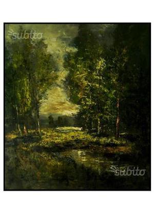 Dipinto lacustre ad olio su tela