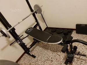 Panca Fitness BM 490 + Manubri + Pesi 125kg +Bonus