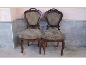 2 sedie luigi filippo in noce