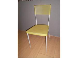 4 sedie in metallo e plastica NUOVE