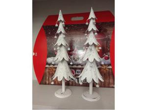 Albero natalizio in ferro battuto bianco