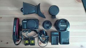 CANON EOS M 22mm kit + mm tamron + batterie