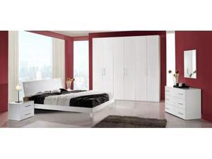 Camera da letto contemporanea bianca | Posot Class