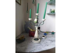 Candelabro in marmo Liberty
