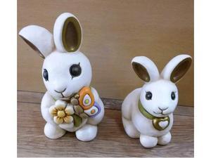 Conigli in ceramica thun nuovi con scatola mai usati 66?+