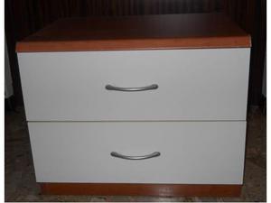 Coppia di comodini in legno - Stile moderno - Panna e
