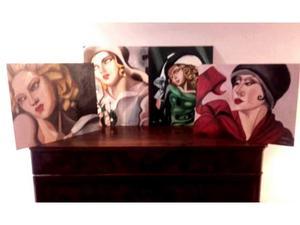 Dipinti olio su tela tamara de lempicka