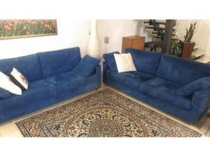 Due divani da tre posti in alcantara Chateau d'Ax