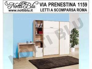 Letti a Scomparsa _ Letto Singolo VE177 Materasso Omaggio
