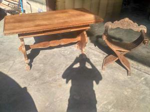 Tavolo e sedia antico fine '800