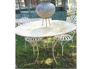 Set da giardino in ferro tavolo e sedie posot class - Tavolo ferro battuto ...